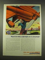 1944 Revere Copper and Brass Ad - Magnesium Lightweight