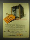 1944 Anaconda Wire & Cable Ad, Electrified Postwar Home