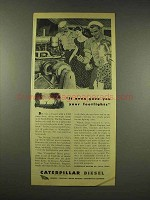 1944 Caterpillar Diesel Electric Set Ad - Footlights