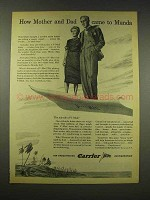 1944 Carrier Air Conditioning Ad - Came to Munda