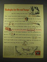 1944 Burlington Route Railroad Ad - Two New Humps
