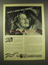 1944 Association of American Railroads Ad - A Great Day