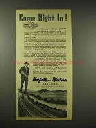 1944 Norfolk and Western Railway Ad - Come Right In!