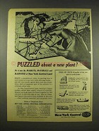 1944 New York Central Railroad Ad - Puzzled About Plant