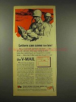 1944 Pitney-Bowes Postage Meter Ad - Letters Can Come Too Late