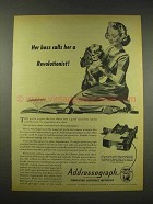 1944 Addressograph Machine Ad - Calls Her Revolutionist