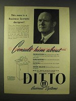 1944 Ditto Copier Ad - A Business Systems Designer
