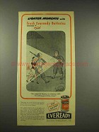 1944 Eveready Batteries Ad - Lighter Moments