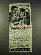 1944 Alka-Seltzer Ad - It's Swell to Be Home Again