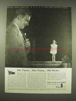 1944 Bausch & Lomb Ad - Her Future, Her Vision