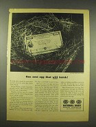 1944 National Dairy Ad - One Nest Egg That Will Hatch