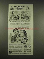 1944 Nabisco 100% Bran Cereal Ad - Breakfast Blues