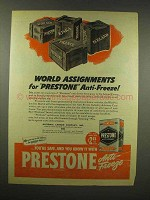 1944 Eveready Prestone Anti-Freeze Ad - Assignments