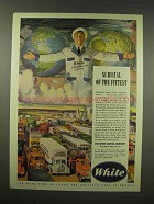 1944 White Truck Ad - Survival of the Fittest