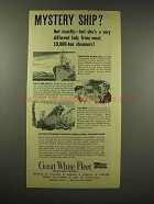 1944 Great White Fleet Ad - Mystery Ship?