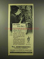 1944 Continental Insurance Ad - It's Fatal to a Fox