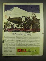 1944 Bell Aircraft Ad - GI's by Proxy