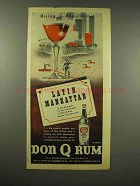 1944 Don Q Rum Ad - Latin Manhattan