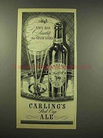 1944 Carling's Red Cap Ale Ad - Quality Never Varies