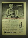 1944 Budweiser Beer Ad - Grandma Knew What To Do