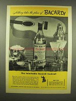 1944 Bacardi Rum Ad - Nothing Takes The Place Of