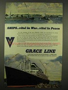 1944 Grace Line Ad - Vital in War, Vital in Peace
