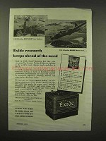 1944 Exide Battery Ad - Keeps Ahead of the Need