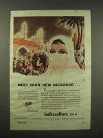 1944 Hallicrafters Radio Ad - Meet Your New Neighbor