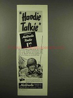 1944 Motorola Handie Talkie Radio Ad - Another 1st