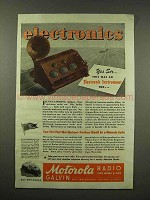 1944 Motorola Radio Ad - An Electronic Instrument Too