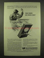 1944 Dictaphone Machine Ad - Time Fights on Whose Side