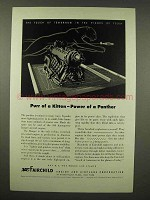 1944 Fairchild Ranger Aircraft Engine Ad - Power