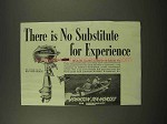 1944 Johnson Sea-Horse Outboard Motor Ad - Experience