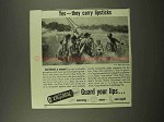 1944 Chap Stick Ad - Yes they Carry Lipsticks