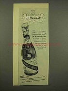 1944 G.H. Mumm Champagne Ad - Liberation of France