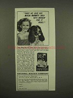 1944 National Biscuit Milk-Bone Dog Biscuit Ad