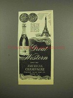 1944 Great Western American Champagne Ad