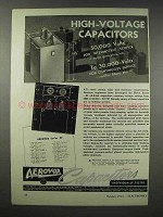 1943 Aerovox Hyvol Series 20 Oil-Filled Capacitor Ad