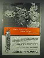 1943 Amperex Electronic Tubes Ad - Beat the Axis