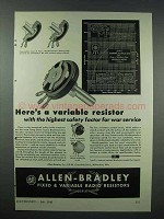 1943 Allen-Bradley Variable Radio Resistors - Safety