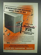1943 Motorola FM Phonograph-Radio Combination Ad