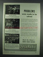 1943 Delco Radio Ad - Problems Were Made to Be Solved