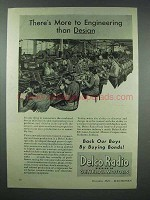1943 Delco Radio Ad - More to Engineering Than Design