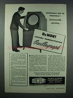 1943 DuMont Type 233 Oscillograph Ad - Mountains