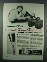 1943 DuMont Cathode Ray Tubes Ad - Double Check