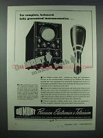 1943 DuMont Cathode Ray Tubes and Instruments Ad