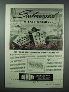 1943 DuMont Type 154E 3-inch Oscillograph Ad, Submerged