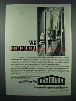 1943 Raytheon Power Tubes Ad - We Remember!