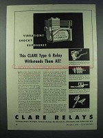 1943 Clare Type G Relay Ad - Vibration? Shock?