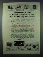 1943 Mallory Electronics Ad - For Hurry-Up Calls